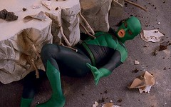 Dragon Fly trapped (Guardian Screen Images) Tags: film movie fly trapped comedy dragon bell captured rick super tights hero superhero spoof tight drake capture 2008 trap spandex lycra riker