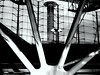 the iron hand (mujepa) Tags: abstract france monochrome lines architecture airport main fer roissy aéroport