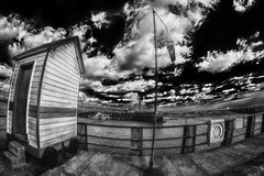 marker lightbox 9 (photoautomotive) Tags: newhaven eastsussex england uk europe englishchannel river riverouse clouds posts pole key port rivervalley water hdr harbour markerlight 8mm samyang8mm sky sea sussex canon ir infrared canon350d canoninfrared monochrome bw blackandwhite