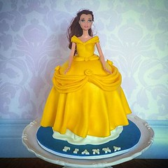 Belle cake (ldeandyment) Tags: cake cakedecorating whimsical custom disney belle beautyandthebeast doll gown yellow