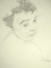 P1016123 (Gasheh) Tags: art painting drawing sketch portrait child boy line pencil pastel gasheh 2017