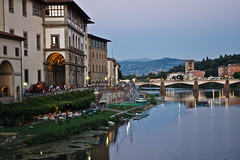 Florence and the Arno (donberry37 (SF Bay Area)) Tags: italy florence arno river landscape evening bridge tuscany firenze