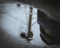 puddlereflection (richardszeller) Tags: car puddle rain reflection march new outdoors outside nikon newjersey digital color