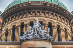 A Lady with two handsome boys (S♡C) Tags: statures qvb queenvictoriabuilding sydney architecture building