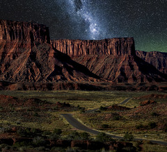 Utah Nightscape (Color Blind 56) Tags: utah nightscape stars milkyway night landscape rock mountains mountain elements13 sky nikon d7100 dark cb1956 viewpoint tamron18270 road longexposure desolate harsh rugged wilderness nightsky galaxy nightlandscape
