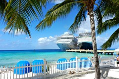 """""""BEACH - Best Escape Anyone Can Have!""""  - explored (Trinimusic2008 - stay blessed) Tags: trinimusic2008 judymeikle nature tropical february 2017 grandturks vacation beach sea ocean ships cruise coconuttrees palmtrees sand shadows candid"""