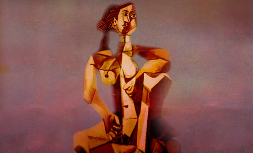 "Mujer Sentada, geometrización de Pablo Picasso (1953), abstracción de Roberto Real de León (2013). • <a style=""font-size:0.8em;"" href=""http://www.flickr.com/photos/30735181@N00/8805314367/"" target=""_blank"">View on Flickr</a>"