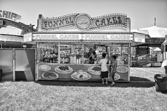 DSCF6836 (RHMImages) Tags: blackandwhite bw sign fuji fair fujifilm countyfair funnelcakes contracostacounty x100s