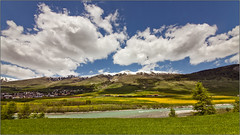 Engadin  Zuoz (johnr71) Tags: summer mountains alps clouds canon switzerland inn valley 5d engadin zuoz graubnden rhtischebahn