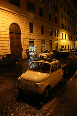 Fiat (Toni Kaarttinen) Tags: city italien italy rome roma car night dark italia fiat roman nighttime 500 rom italie lazio romo italio