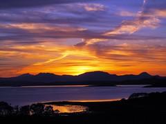 Sunset from Arduaine, Argyll, Scotland (ambabheg) Tags: blue sunset orange island scotland argyll forbes atlantic johnston refections arduaine ambabheg
