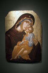 Icon of Mary and Infant Christ, c. 1430 (Mr. History) Tags: greek gold mary icon virgin crete virginmary