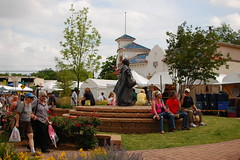 Statue 2:45pm (radargeek) Tags: city oklahoma festival district arts paseo okc ok 2013