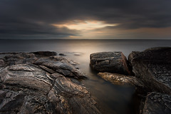Opening (- David Olsson -) Tags: longexposure morning lake seascape nature water night clouds sunrise landscape dawn early nikon rocks cloudy sweden outdoor may cliffs le fx vänern darksky d800 hammarö värmland 1635 ndfilter blackglass 1635mm lakescape smoothwater fiskevik 2013 2exposures bonäsudden manualblend fiskvik manuallyblended davidolsson räggårdsviken nd500 lightcraftworkshop 1635vr