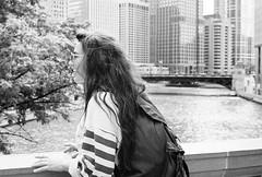 (cameronxmadalyn) Tags: city portrait blackandwhite chicago architecture canon buildings river canona1 baw