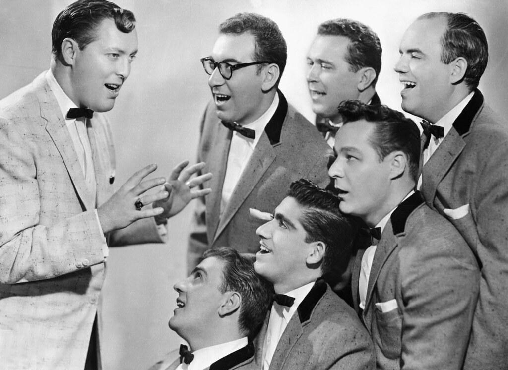 BE083921 Sabatu Tags Men Musicians Singing Group Posing 1950s Singer Americans Males Northamericans