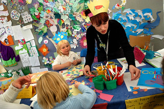 Activity Corner fun at the 2004 Edinburgh International Book Festival
