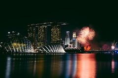 Fireworks Display (Maxie S Photography) Tags: night singapore cityscape firework celebration fujifilm nationalday marinabay