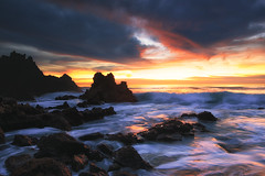 point break (Andy Kennelly) Tags: ocean beach colors clouds point rocks waves break pacific dramatic verdes palos