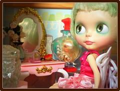 Bella Rose in her room..