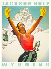 JacksonHolePcard1 (Watcher1999) Tags: winter ski alps sports skiing hole postcard bum jackson resort wyoming