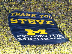 Thank You Steve Ross (RichKD) Tags: irish night canon lights football action michigan crowd fans fighting notre dame wolverines rossschoolofbusiness sx50 stephenmross