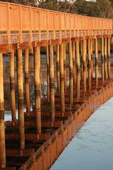 Boardwalk (historygradguy (jobhunting)) Tags: wood reflection water duck nc northcarolina boardwalk outerbanks obx curritucksound