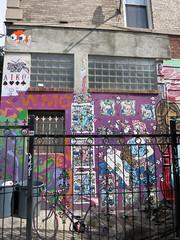 Williamsburg Music Center Mural (wiredforlego) Tags: nyc streetart ny newyork brooklyn graffiti stencil mural mosaic spaceinvader urbanart williamsburg illegalart ladyaiko