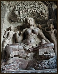 Ellora Jaina Cave No.32 : Siddhayika : Goddess of Wealth (Indianature14) Tags: india heritage architecture august unescoworldheritagesite unesco monsoon maharashtra westernghats asi aurangabad ancientmonument ellora 2013 elloracaves indianature ancientheritage indiaheritage goddessofwealth cave32 indrasabha elloracave32 jagannathsabha siddhayika ellorajainatemple elapura elloracave30to34 ellorajainacaves ellorajaincaves elloracaves30to34 elloracaves3034 jaingodess maharashtraheritage