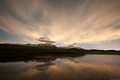 Nightscape on lake Racollo #2 (Corsaro078) Tags: 2 lake reflection night clouds stars landscape lago nuvole nightscape riflessi notte paesaggio stelle gransassoditalia racollo