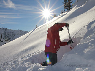 Checking the snow pack