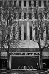 Moorhead City Hall (RickAbbott) Tags: blackandwhite minnesota cityhall moorhead