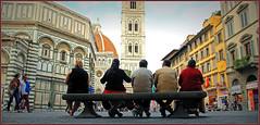 Piazza San Giovanni, Baptistère, Campanile et Duomo, Firenze (claude lina) Tags: italy florence tuscany firenze italie toscan mygearandme mygearandmepremium mygearandmebronze mygearandmesilver mygearandmegold