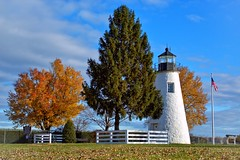 Comcord Point Lighthouse (WabbyTwaxx) Tags: light lighthouse house de point bay md maryland grace havre concord chesapeake
