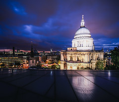 St. Paul's (Crusade.) Tags: city uk light england urban london night canon stpaul 5d2 tse17