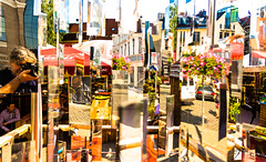 Mirror Mayhem (Franco Beccari) Tags: world city trip travel blue red vacation white holiday abstract black streets color colour reflection green tourism yellow reflections photography mirror nikon europe mirrors latvia nikkor riga d600