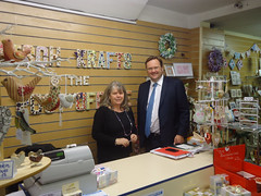 "Stephen Mosley MP visits Kitsch Krafts @ the Post Office in Saltney - a new business established thanks to New Enterprise Allowance • <a style=""font-size:0.8em;"" href=""http://www.flickr.com/photos/51035458@N07/11115594563/"" target=""_blank"">View on Flickr</a>"