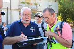 Steve Sims and Ian McCarthy check list