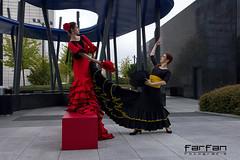 Marta & Noelia (jlhuys farfan) Tags: rojo negro marta flamenco noelia farfan