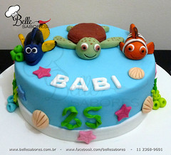 Procurando Nemo - Finding Nemo (Belle Sabores) Tags: cake azul mar nemo pasta americana bolo concha dori tartaruga