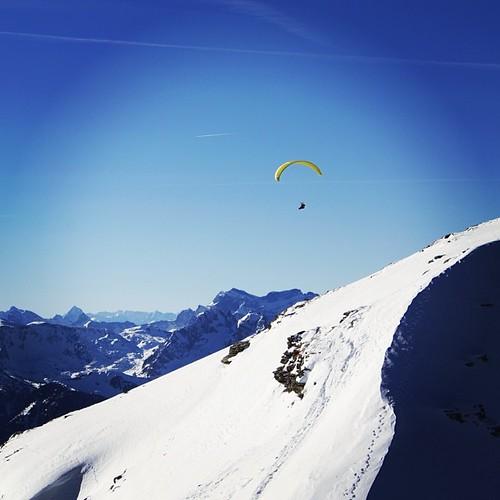 Flying above the Chäserrugg , Switzerland