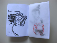 Seacreative, Zine Sketch (ErnestoeFranco) Tags: graffiti arte milano cover fabrizio engrave tracingpaper photocopied