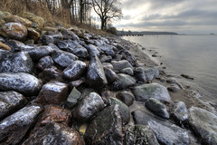 Icestone6 (Svendborgphoto) Tags: winter water landscape denmark nikkor rawhdr 1424mm