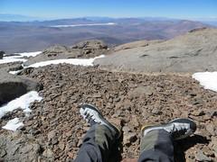 Laguna Brava from the summit of Veladero (6420m)