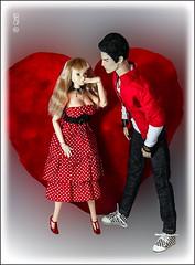 Happy Valentine's Day! (astramaore) Tags: blue wild brown black male love fashion rock toy model glamour doll blueeyes handsome romance relationship honey lukas hazeleyes chic cheekbones lovestory affair royalty relations ringmaster momoko fulllips brunet loveaffair fashionroyalty