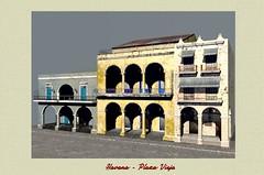 Havana Plaza Vieja (stancula) Tags: plaza house detail art architecture facade digital design 3d ancient havana vieja scene grafic