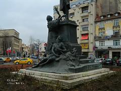 Lahovari Square and statue, Bucharest (Carpathianland) Tags: architecture strada romania bucuresti piata bulevardul arhitectura strazi