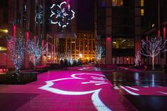 Cherry Blossom Lights at CityCenter DC (otavio_dc) Tags: dc citycenter cherryblossomfestival centralplaza palmeralley centercitydc