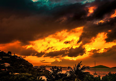 Sunset, Virgin Islands.jpg (Pete Douglass) Tags: sunset stjohns virginislands topaz cruzbay 32bit colorefex viveza hdrpro