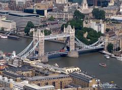 London from the Air, the 'Stella Artois' Zeppelin Airship (wrecksandrelics) Tags: towerbridge zeppelin blimp airship londonfromtheair